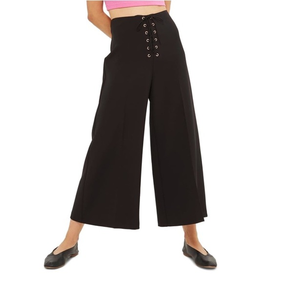 Black Top Shop Wide Leg Trouser Pants